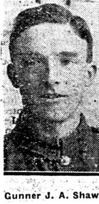 Shaw John Alexander, Gunner, Skye Ex Dingwall