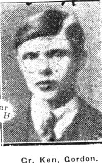 Gordon Kenneth M, Gunner, Dingwall