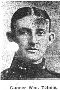 Tolmie William, Gunner, Natal Ex Dingwall