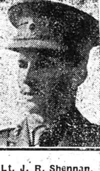 Hamilton J Rognvold Shennan, Lieut, Ex Dingwall