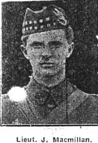 Macmillan John, Lieut, Dingwall