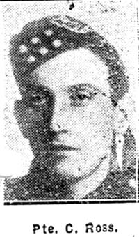 Ross Colin, Pte, Dingwall