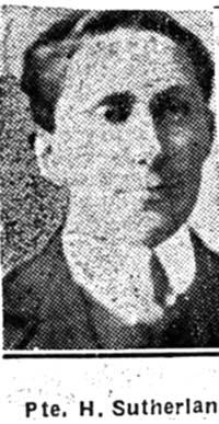 Sutherland Hugh, Pte, Dornoch Ex Dingwall