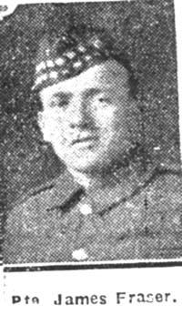 Fraser James, Pte, Dingwall