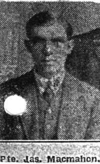 Macmahon James, Pte, Dingwall