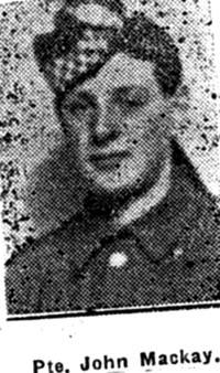 Mackay John, Pte, Dingwall