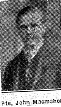 Macmahon John, Pte, Dingwall