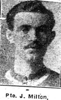 Milton John, Pte, Dingwall