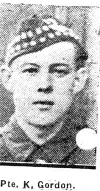 Gordon Kenneth, Pte, Dingwall