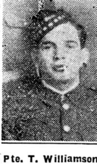 Williamson Thomas, Pte, Dingwall