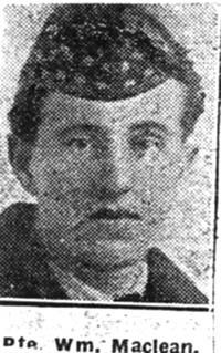 Maclean William, Pte, Dingwall