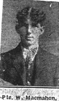 Macmahon William, Pte, Dingwall