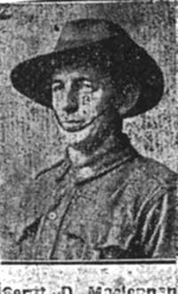 Maclennan Donald, Sgt, Dingwall