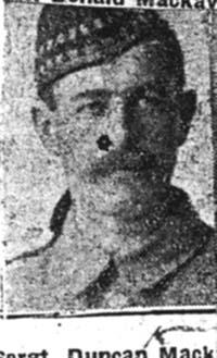 Mackay Duncan, Sgt, Dingwall