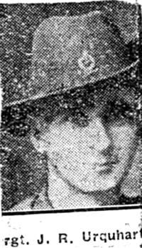 Urquhart John R, Sgt, Aberdeen connections to Dingwall