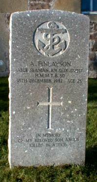 Grave of A. Finlayson, Able Seaman