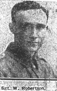Robertson William J, Sgt, MM, Glasgow Ex Dingwall