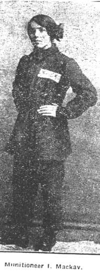Mackay Isabella, Munitioneer, Evanton