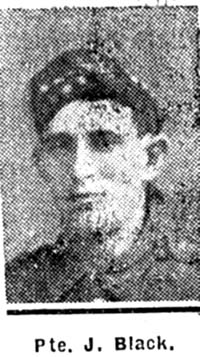 Black James, Pte, Evanton
