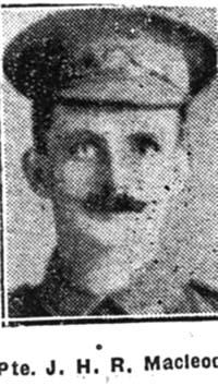 Macleod John H R, Pte, Evanton
