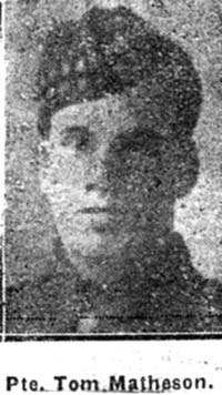 Matheson Thomas, Pte, Evanton