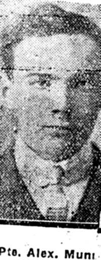 Munro Alexander, Pte, Fairburn