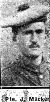 Mackenzie John, Pte, Fairburn