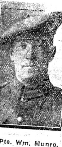 Munro William, Pte, Fairburn
