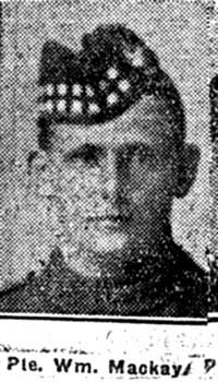 Mackay William, Pte, Fearn