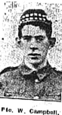 Campbell William, Pte, Fortrose