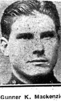Mackenzie Kenneth, Gunner, Gairloch