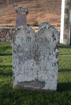 Grave of Archibald MacLachlan