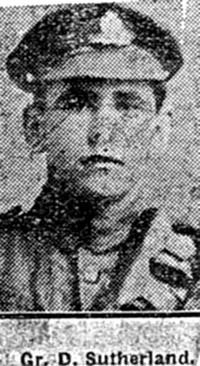 Sutherland Donald, Gunner, Invergordon