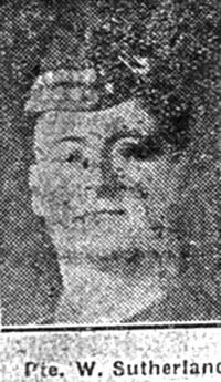 Sutherland William, Pte, Invergordon