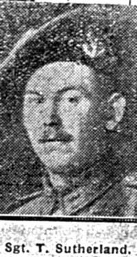 Sutherland Thomas, Sgt, Invergordon