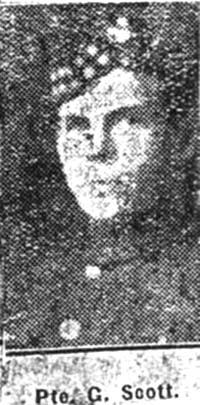 Scott George, Pte, Invergordon