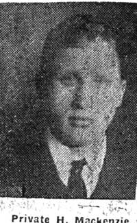 Mackenzie Hugh, Pte, Invergordon