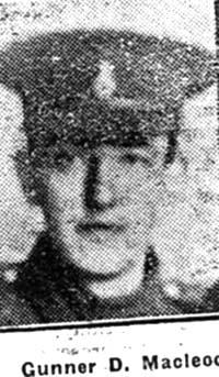 Macleod Donald, Gunner, Kildary