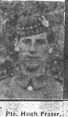 Fraser Hugh, Pte, Kildary