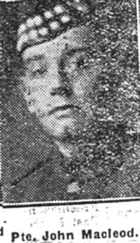 Macleod John, Pte, Kildary
