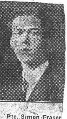 Fraser Simon, Pte, Kildary