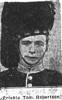 Robertson Thomas, Pte, Kildary