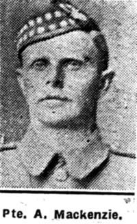 Mackenzie Alexander, Pte, Kinlochewe