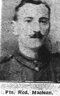 Maclean Roderick, Pte, Leckmelm