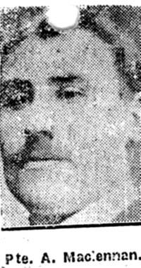 Maclennan Angus, Pte, Lochbroom