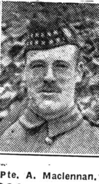 Maclennan Alexander, Pte, Lochluichart