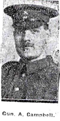 Campbell Alexander, Gunner, Lochussie