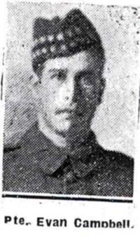 Campbell Evan, Pte, Marybugh