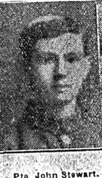 Stewart John, Pte, Maryburgh