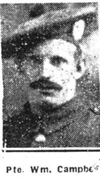 Campbell William, Pte, Maryburgh